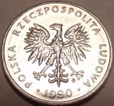 Buy Unc Poland 1990 5 Zlotych~Eagle With Wings Spread Open~Minted In Warsaw~Free Shi