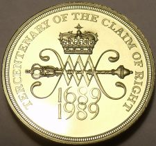 Buy Cameo Proof Great Britain 1989 2 Pounds~Tercentenary - Claim of Right~Free Ship
