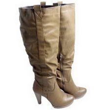 Buy Dulce Rubio Women's Boots Size 5-9 Knee High High Heel Med Width Brown Zipper