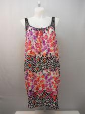 Buy Secret Treasures Women's Chemise Plus Size 2X Multi Color Floral Lace Trim Strap