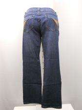 Buy Bubblegum Women's Jeans Size 16 Indigo Embellished Mid-Rise Straight Legs 38X31