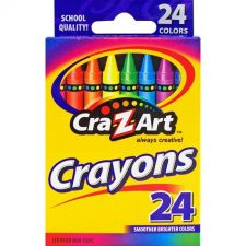 Buy Cra-Z-Art 24 Count Smoother Brighter Colors Crayons
