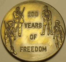 Buy Huge 38.5mm Gem Unc 1976 Bronze Medallion~200 Years Of Freedom~Free Shipping
