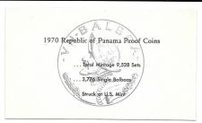 Buy 1970 Panama 6 Coin Single Page C.O.A. Document Set~Free Shipping