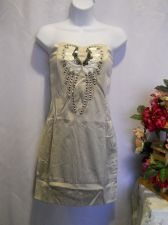 Buy Nikibiki Gray Embellished Strapless Sexy Fitted Holiday Party Mini Dress Size S