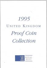 Buy 1995 Great Britain 8 Coin 2 Page C.O.A. Document Set~Free Shipping