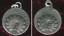 Buy Inspirational Kevin & Anna Charm 950 Silver / PEACOCK = GLORY QUOTE / 16mm