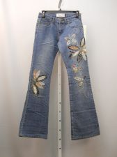 Buy Milano Moda Boot Cut Legs Stonewashed Embellished 26X33 Women's Jeans Size 1/2