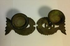 Buy OLD PAIR OF CHINESE BRONZE DOUBLE-FISH FORM CANDLE HOLDERS