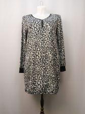 Buy Faded Glory Women's Sleepshirt Minky Fleece Size L-XL Henley Animal Long Sleeves