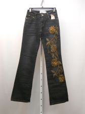 Buy JUNIOR SIZE 5 6 Boot Cut Jeans MILANO MODA Embellished Dark Wash 28X33 Mid Rise