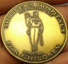 Buy Huge 44.5mm Solid Bronze Shriners Hospital Los Angles Unit~Norbert Driggers~Fr/S