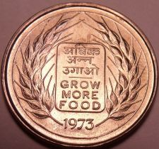 Buy Gem Unc India 1973 50 Paise~Grow More Food~F.A.O. Issue~Free Shipping