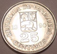 Buy Gem Unc Venezuela 1990mm 25 Centimos~Simon Bolivar~Last Year Ever~Free Shipping