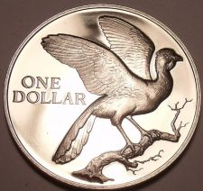Buy Rare Proof Trinidad & Tobago 1974 Dollar~Coerico Bird~14,000 Minted~Free Ship