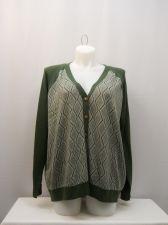 Buy North Crest Women's Boyfriend Cardigan Plus Size 4X Green Diamond Long Sleeves