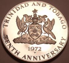 Buy Massive Proof Trinidad & Tobago 1972 Dollar~10th Anniversary of Independence~F/S