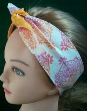 Buy Headband hair wraptie bandana self tie 100% Cotton hand made