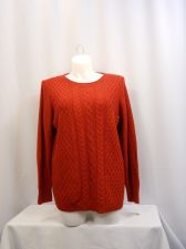 Buy Karen Scott Red Long Sleeves Crew Neck Sweater Plus Size 1X