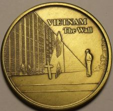 Buy Huge 40mm Solid Bronze Vietnam The Wall United States Veteran Medallion~Free Shi