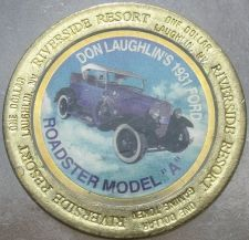 Buy LARGE RIVERSIDE RESORT $1 GAMING TOKEN~1931 FORD ROADSTER MODEL A~FREE SHIPPING~
