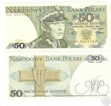 Buy POLAND 50 ZLOTYCH UNCIRCULATED<MILITARY GENERAL>