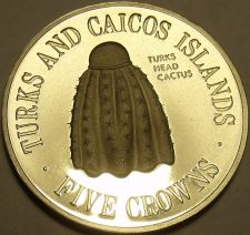 Buy Extremely Rare Silver Prooof Turks Caicos Islands 1975 5 Crowns~1,320 Minted~FS
