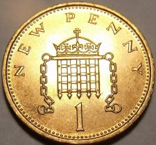 Buy Brilliant Unc Great Britain 1971 New penny~1st Year Ever Minted~Free Shipping
