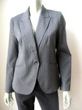Buy Van Heusen NEW Charcoal Pintuck Lined Long Sleeves Stretch 1-Button Blazer M PR