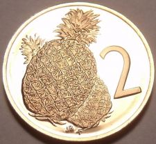 Buy Cameo Proof Cook Islands 1972 2 Cents~1st Year Ever~Pineapple~17k Minted~Free Sh