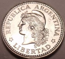 Buy Gem Unc Argentina 1959 5 Centavos~Last Year Ever Minted~Over 50 Years Old~Fr/Shi