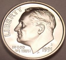 Buy United States 1991-S Camro Proof Roosevelt Dime~Free Shipping