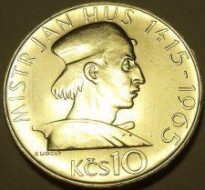 Buy Rare Unc Silver Czechoslovakia 1965 10 Korun~550th anniv~Death Of Jan Hus~Fr/Sh