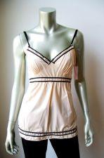 Buy A0343 Sophia B NEW Nude Stretch Microfiber Lace Black Satin Trim Camisole Top PR