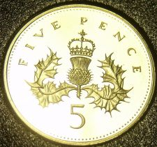 Buy Cameo Proof Great Britain 1992 5 Pence~Awesome~We Have UK Coins~Free Shipping