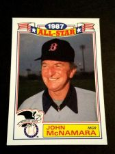 Buy VINTAGE JOHN McNAMARA RED SOX 1987 TOPPS ALL STAR BASEBALL #1/22 GD-VG