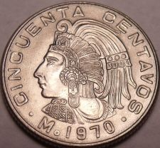 Buy Gem Unc Mexico 1970 50 Centavos~1st Year Ever Minted~Free Shipping