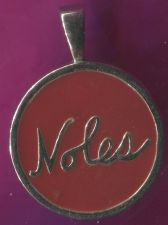 "Buy RED ENAMEL CHARM SIZE ""NOLES"" PENDANT STERLING 925 SILVER"