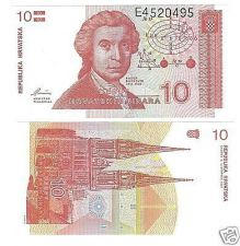 Buy CROATIA UNCIRCULATED 10 DINAR SUPER CRISP NOTE
