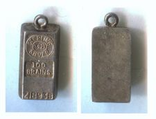 Buy Vintage Sterling Silver Tiny Numbered Bar 100 Grains # Z1893B
