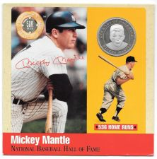 Buy Rare .999 Silver Proof Mickey Mantle 500 Club Cooperstown Commemorative~Free Shi