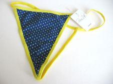 Buy A0136 Rene Rofe NEW Contrast Polka Dots Stretch Cotton G-String Thong S M PR NWT