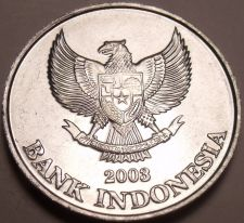 Buy Large Germ Unc Indonesia 2003 200 Rupiah~Eagle With Spread Wings~Free Shipping