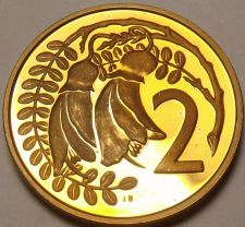 Buy Rare Proof New Zealand 1971 2 Cents~5,000 Minted~Kowhai Leaves~Free Shipping