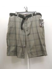 Buy MENS BIG TALL Plaid Dress Shorts Size 46X15 NBN GEAR Charcoal Straight Leg