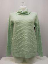 Buy Faded Glory Women's Tunic Sweater Size L Turtle Neck Medium Popcorn Knit Green