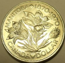 Buy Huge Unc Canada 1970 Manitoba Dollar~Excellent Coin~Free Shipping