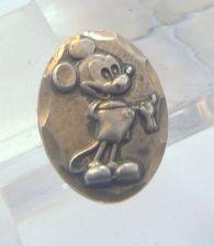 Buy Post Earrings : vintage DISNEY sterling 925 silver Mickey Mouse