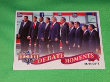 Buy 2016 Presidential Decision Republican Debate Moments Collectible trading card