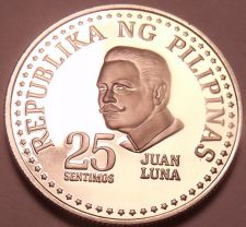 Buy Rare Cameo Proof Philippines 1977 25 Sentimos~4,822 Minted~Free Shipping
